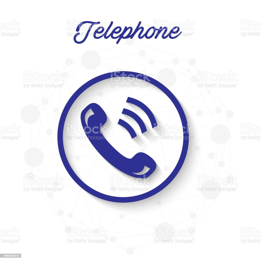 Teléfono Teléfono Círculo Receptor Marco Fondo Vector Imagen - Arte ...
