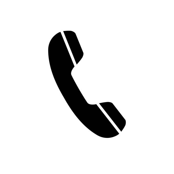 Telephone receiver, phone icon on white background Telephone receiver, phone icon on white background. Vector EPS 10 phone stock illustrations