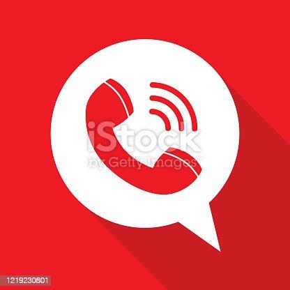 istock Telephone Receiver Speech Bubble 1219230801