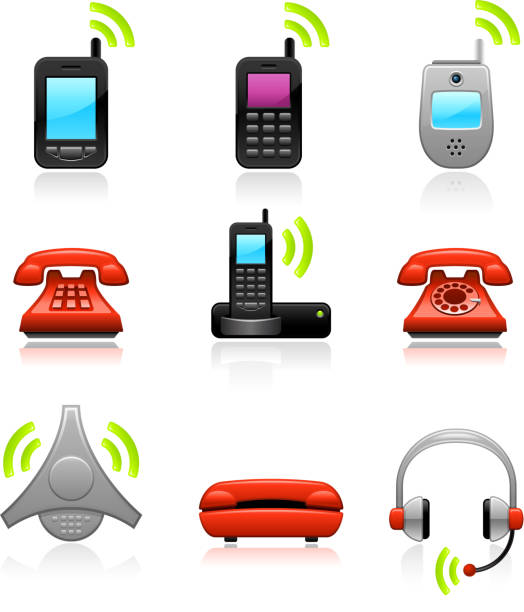 telephone royalty free vector icon set telephone icon sethttp://www.belyj.com/i/black.jpg conference phone stock illustrations