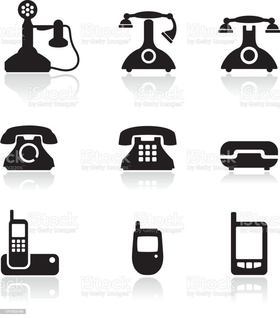 telephone royalty free vector icon set royalty-free stock vector art