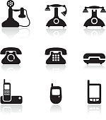 telephone royalty free vector icon set