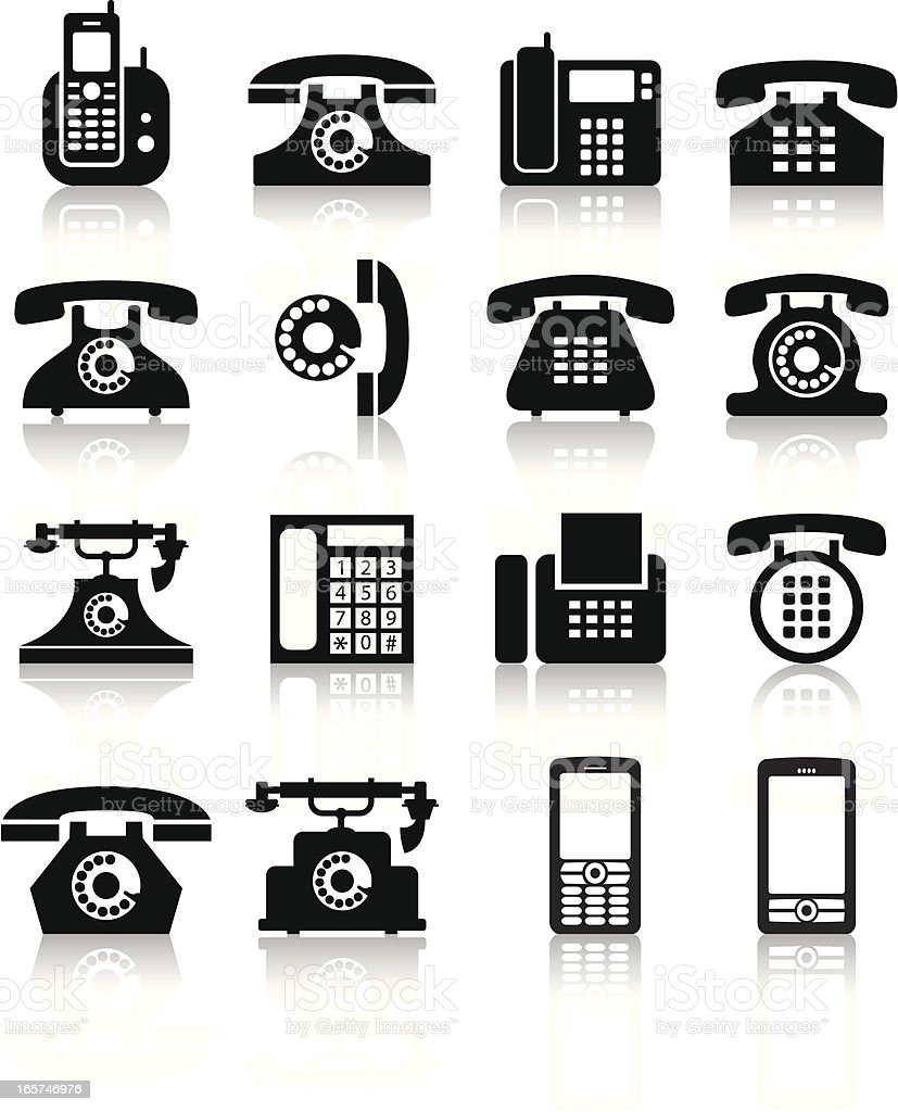 telephone vector art illustration