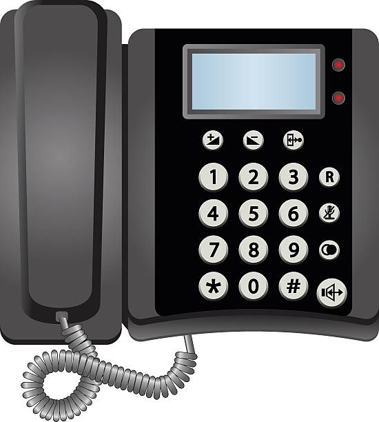 telephone Vector telephone isolated on white background switchboard operator vintage stock illustrations