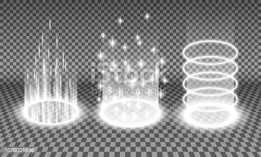istock Teleport light effects vector illustration 1070021696