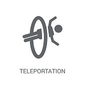 Teleportation icon. Trendy Teleportation logo concept on white background from Artificial Intelligence collection