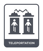 teleportation icon vector on white background, teleportation trendy filled icons from Future technology collection