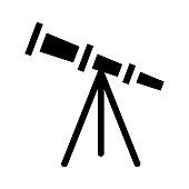 telescope Glyphs Vector Icon