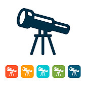 Telescope Icon with color variations