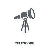 Telescope icon. Telescope design concept from Astronomy collection. Simple element vector illustration on white background.