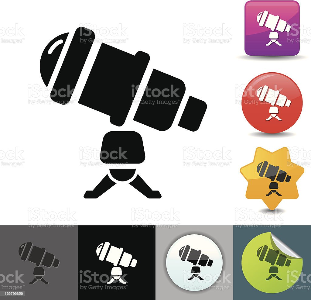 Telescope icon | solicosi series royalty-free telescope icon solicosi series stock vector art & more images of astronomy