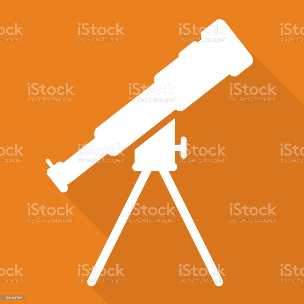 Telescope icon royalty-free stock vector art