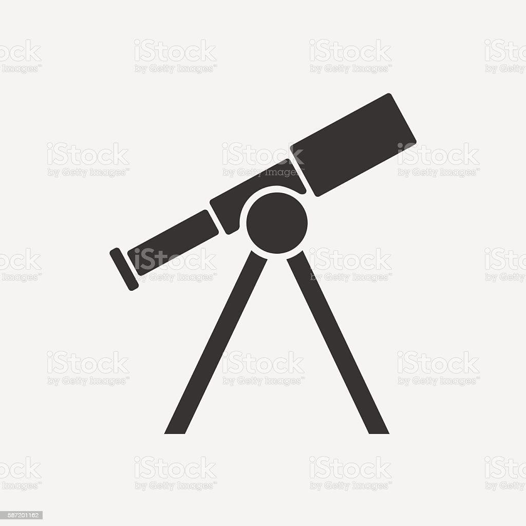 telescope icon vector illustration stock illustration download image now istock 2