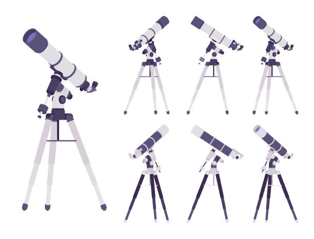 telescope optical instrument - astronomy telescope stock illustrations