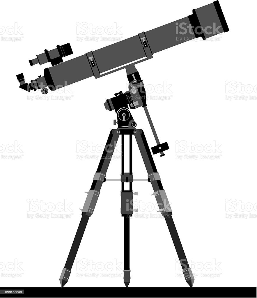 telescope silhouette royalty-free stock vector art