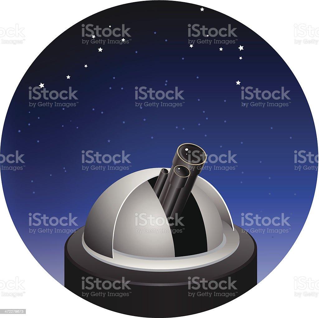 Telescope vector art illustration
