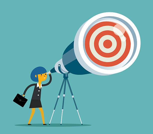 stockillustraties, clipart, cartoons en iconen met telescope - wegkijken