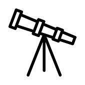 telescope Vector Thin Line Icon