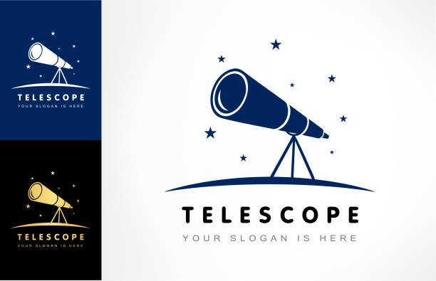 telescope vector - астрономия stock illustrations