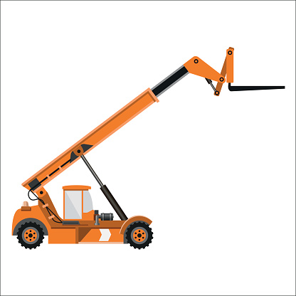 Telescopic handler equipped with fork