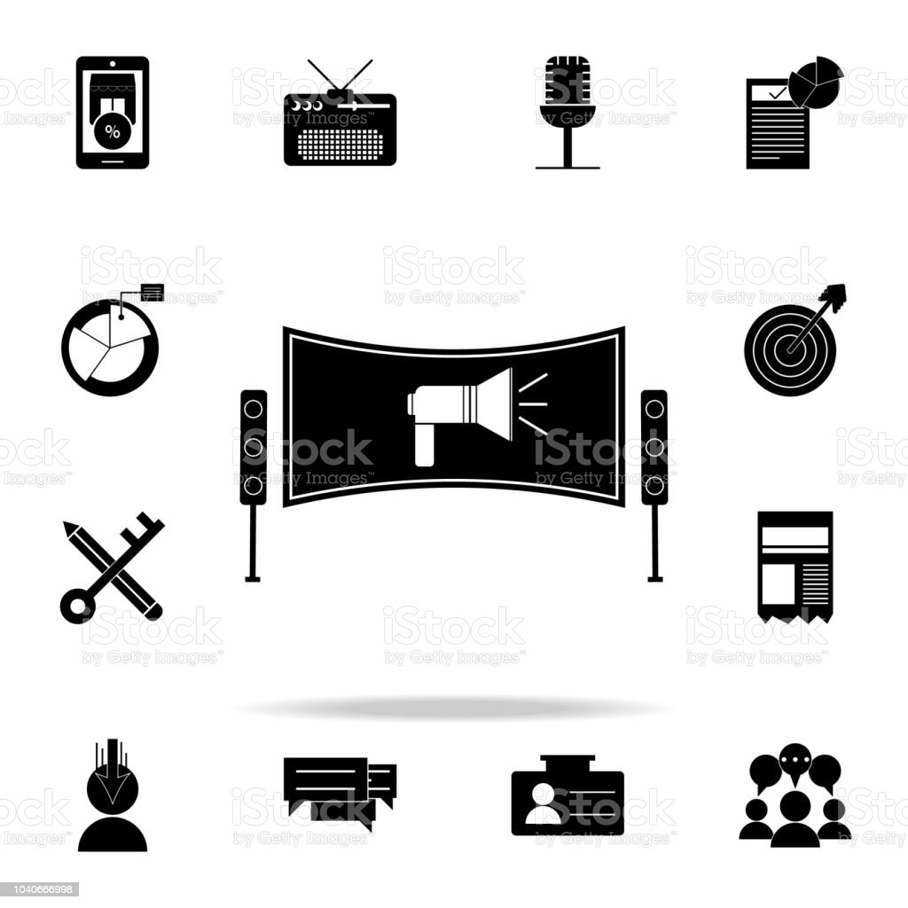 television ad icon. Digital Marketing icons universal set for web and...