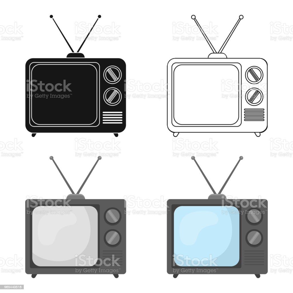 Television advertising icon in cartoon style isolated on white background. Advertising symbol stock vector web illustration. royalty-free television advertising icon in cartoon style isolated on white background advertising symbol stock vector web illustration stock vector art & more images of art and craft