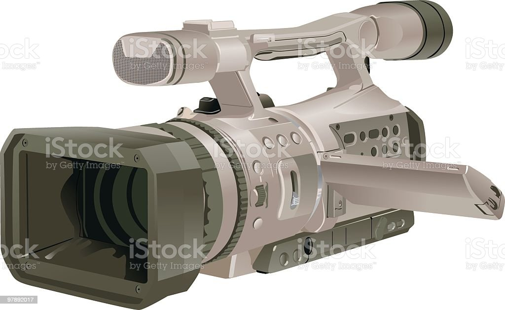 Television Camera royalty-free television camera stock vector art & more images of broadcasting