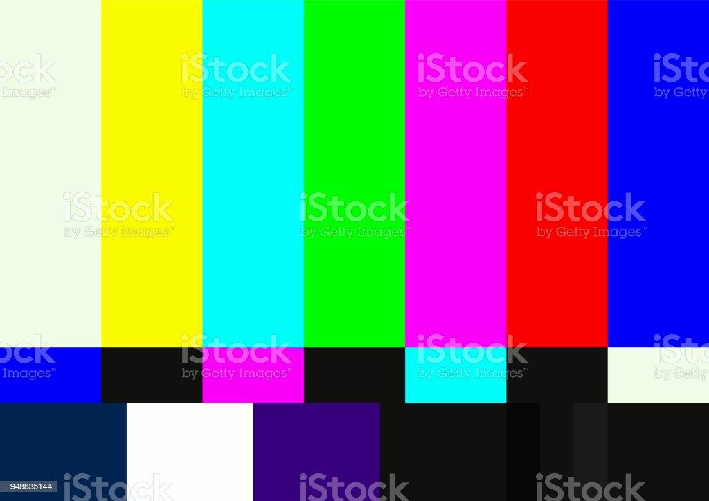 Television color test pattern vector art illustration