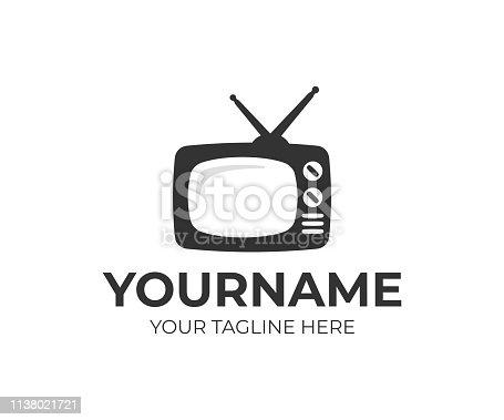 Television design. Streaming TV vector design. TV broadcast design