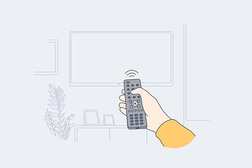 Television, home entertainment concept