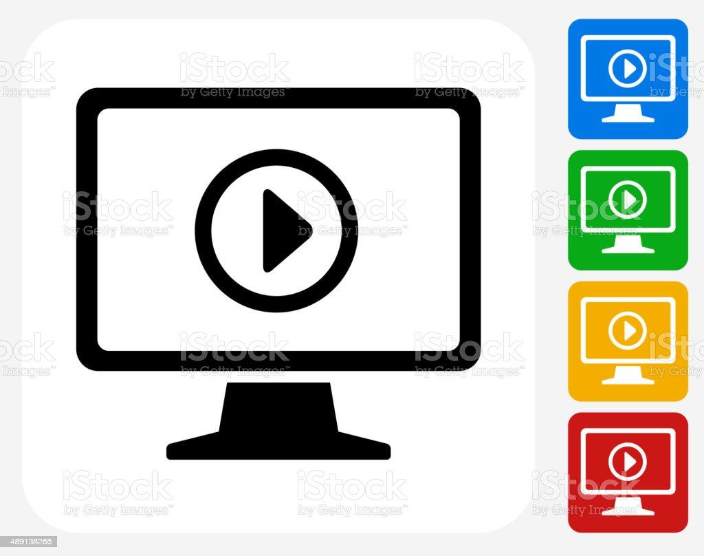 Icône de télévision à la conception graphique - Illustration vectorielle