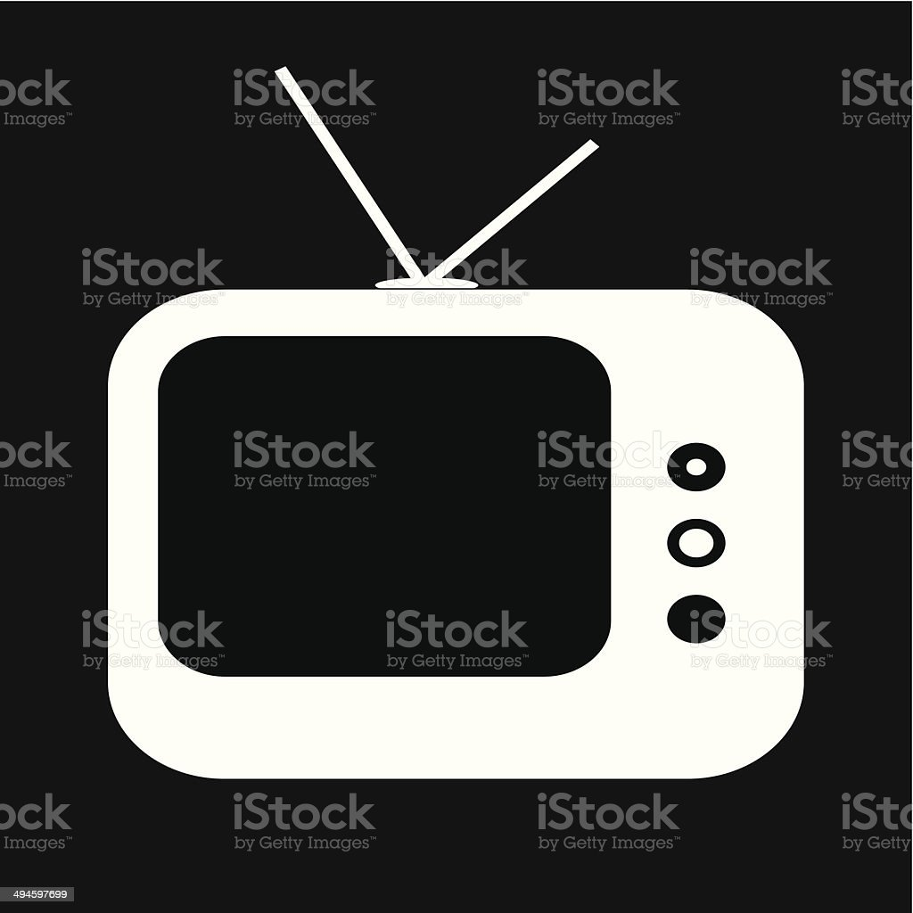 Television icon- vector vector art illustration