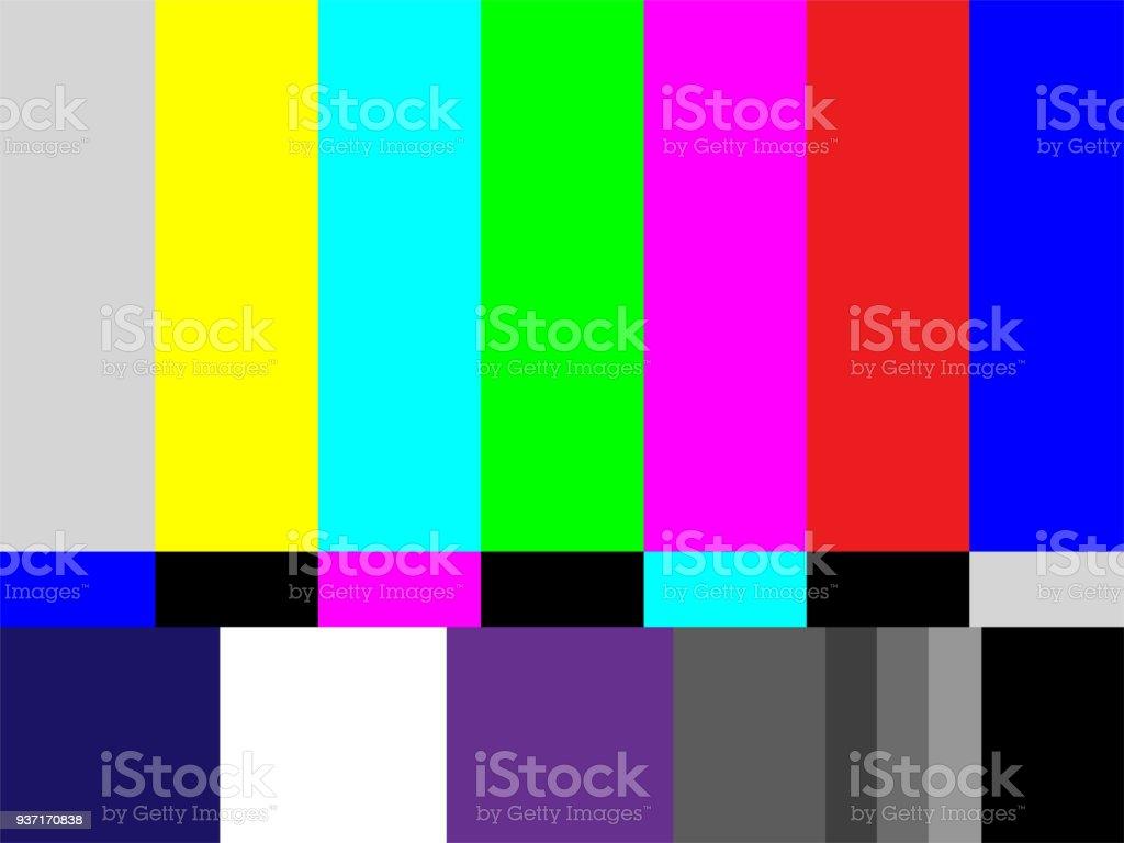 Televisión patrón de prueba de las rayas - ilustración de arte vectorial