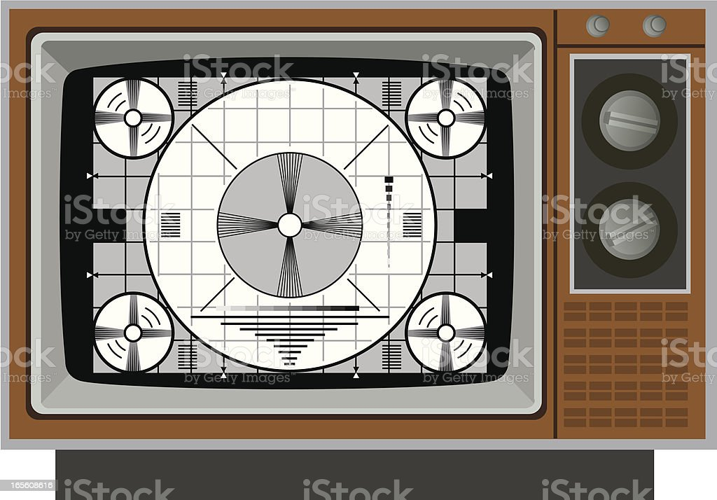 Television Test Pattern royalty-free stock vector art