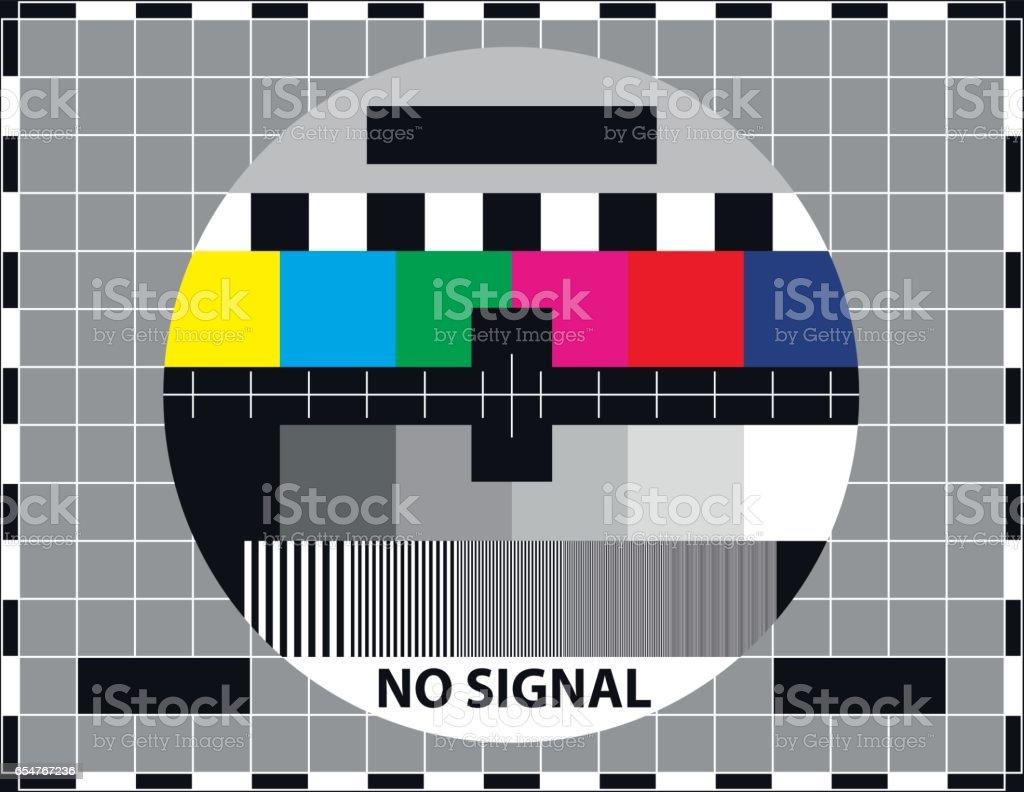 Television test screen vector art illustration