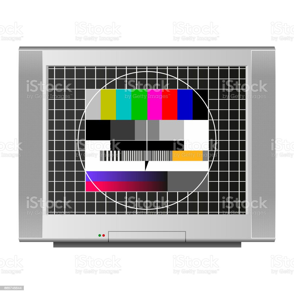 Television test screen vector art illustration