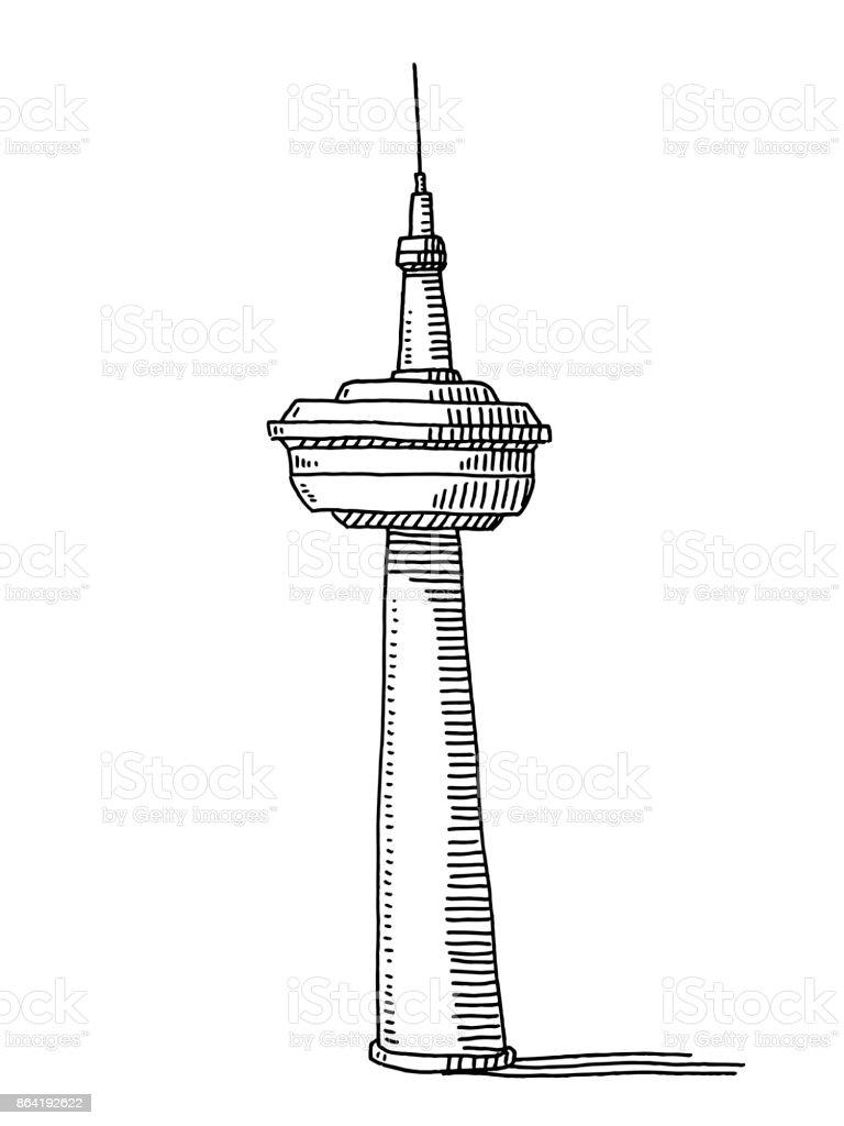 テレビ塔図面 いたずら書きのベクターアート素材や画像を多数ご用意