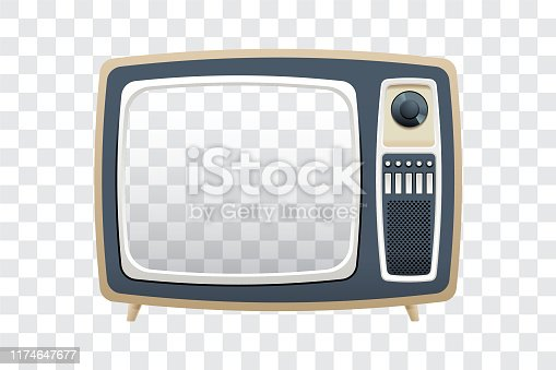 Vector illustration of transparent screen television