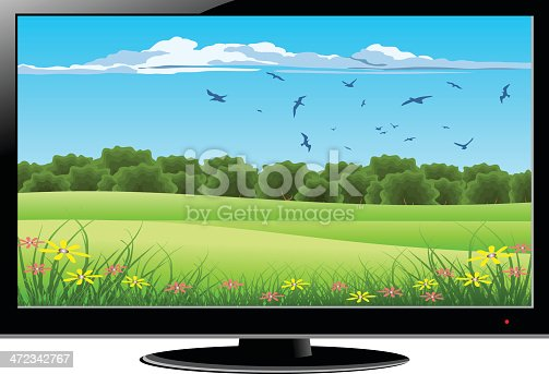 istock LCD Television With Green Nature on Screen 472342767