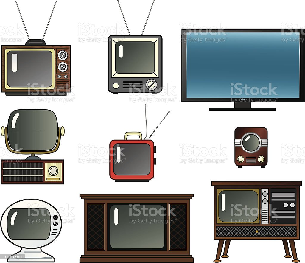 Televisions royalty-free stock vector art