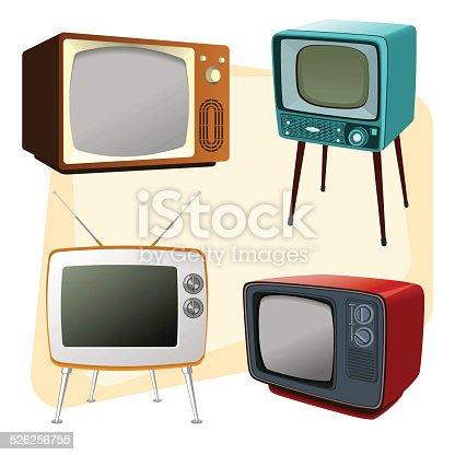 istock Televisores estilo vintage 526256755