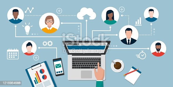 istock Teleworking and online freelancing 1215954588