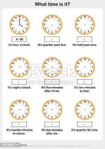 Time Worksheets » Time Worksheets Quarter After - Preschool and ...