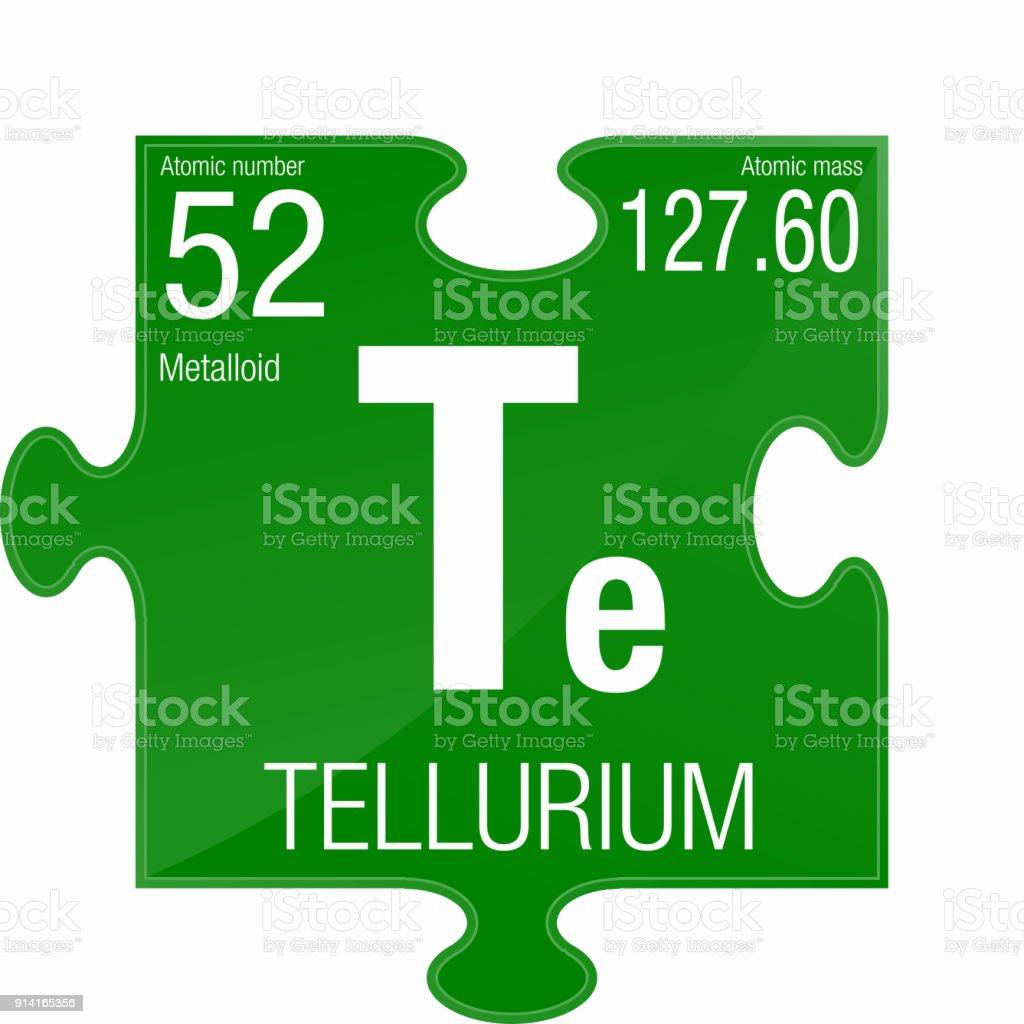 Ilustracin de smbolo de telurio elemento nmero 52 de la tabla smbolo de telurio elemento nmero 52 de la tabla peridica de los elementos qumica urtaz Gallery