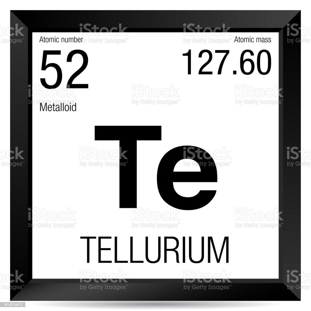 Tellurium Symbol Element Number 52 Of The Periodic Table Of The