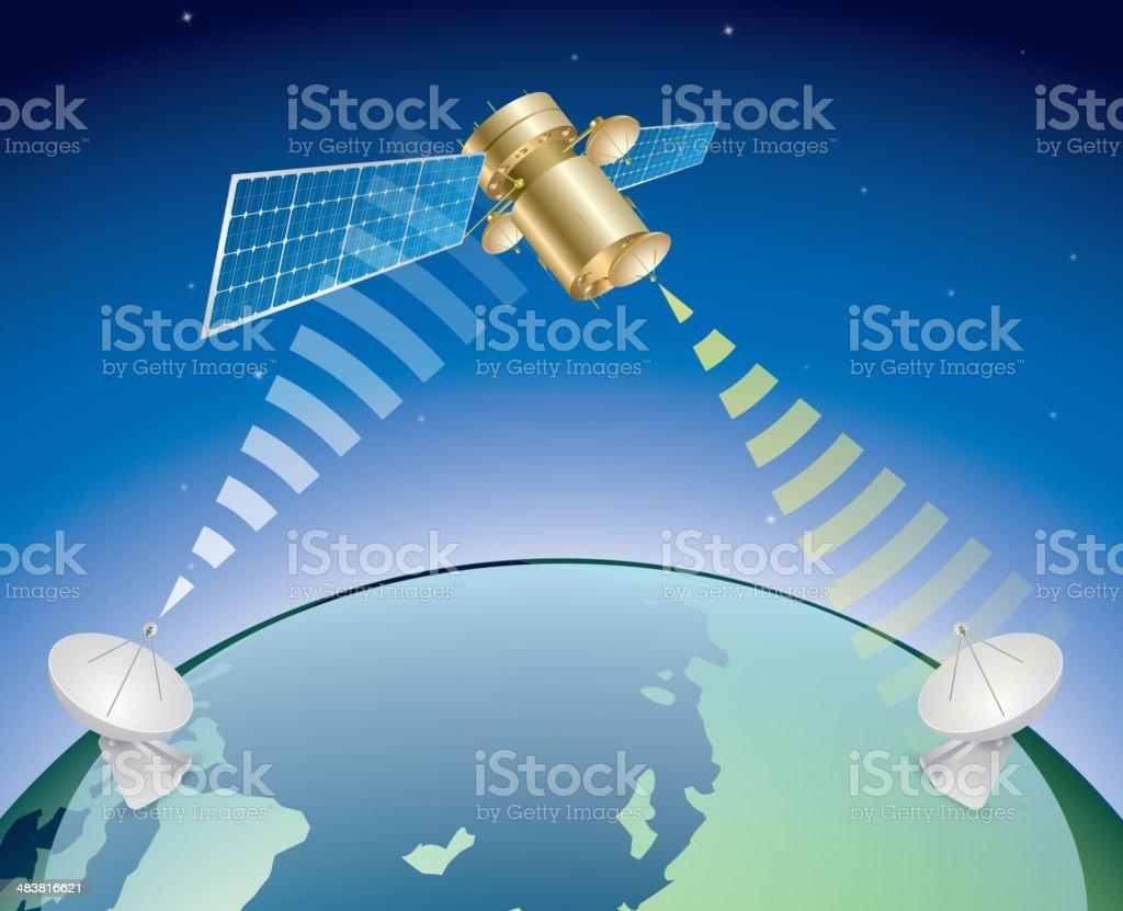 Telstar vector art illustration