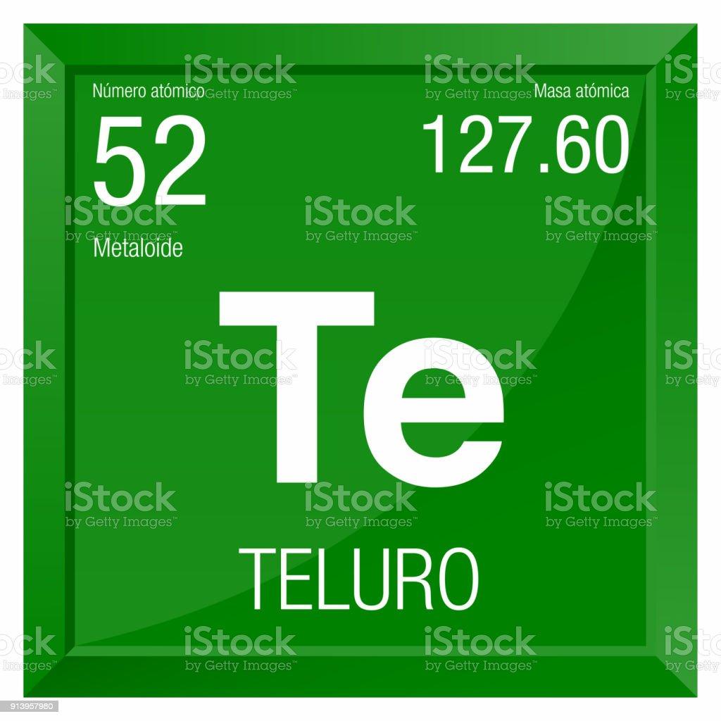 Ilustracin de smbolo de teluro telurio en lengua espaola elemento smbolo de teluro telurio en lengua espaola elemento nmero 52 de la tabla peridica urtaz Gallery