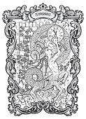 Temperance. Major Arcana tarot card