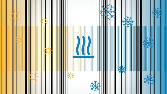 Temperature Control Hot and Cold Background
