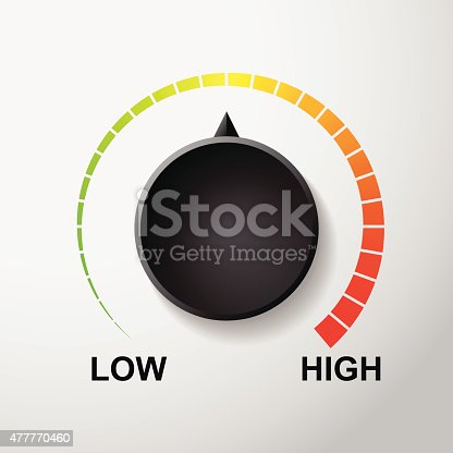 Temperature dial control vector